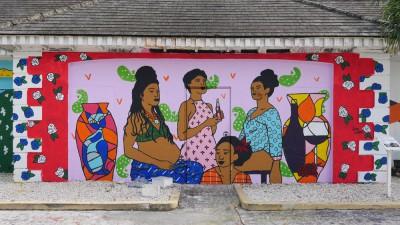 mural at NAGB, 2016