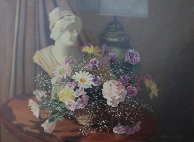 Flowers with Lamp, 1977 by Alton Lowe