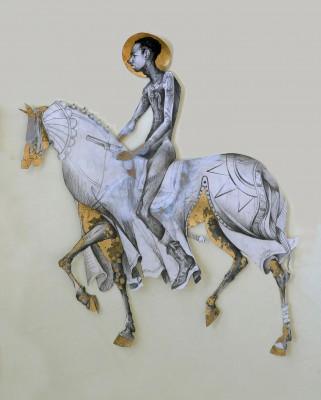 Self (Lavar) on Horse, 2010