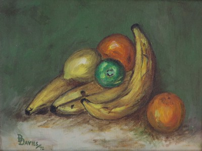 Still Life with Banana, 1972 by Dawn Davies