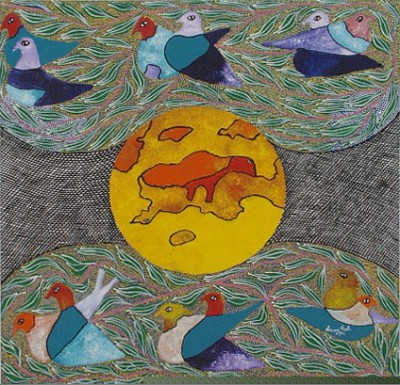 09 - Sun, Earth and 6 Pairs of Birds by Leroy Exil (Haiti)