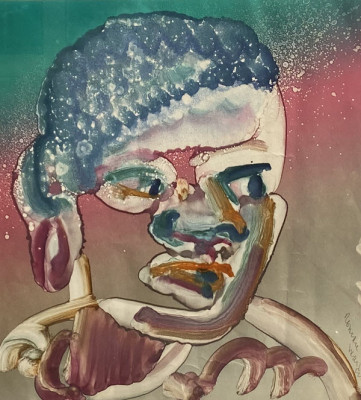 Face Looking Right by Romare Bearden